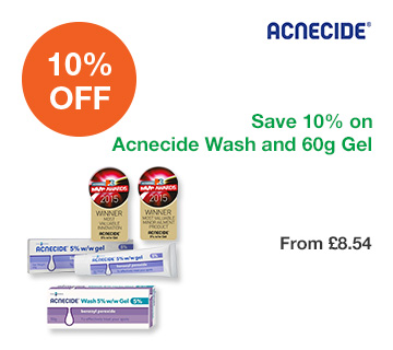 Save 10% on Acnecide Wash and 60g Gel