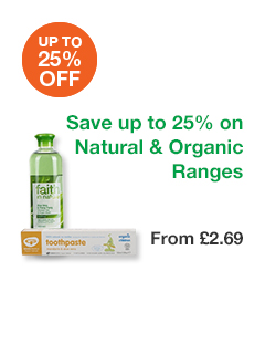 up to 25% off Natural & Organic