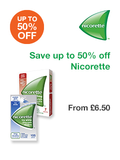 Save up to 50% off Nicorette