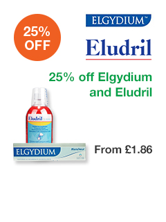 25% off Elgydium and Eludril