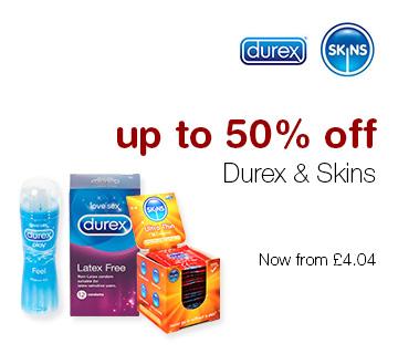 Up to 50% off Durex & Skins