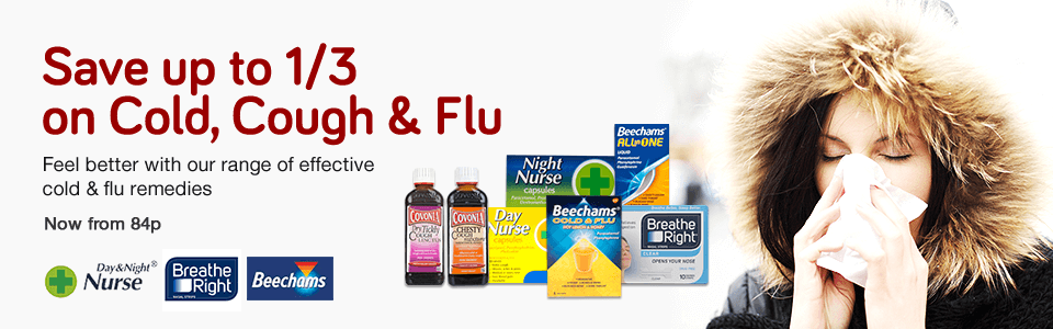 Save 1/3 on Cold, Cough & Flu