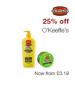 25% off O'Keeffe's