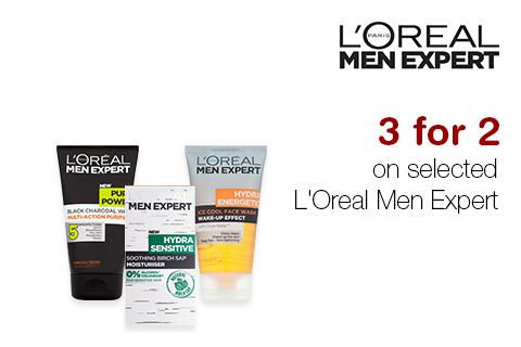 3 for 2 on selected L'Oreal Men Expert