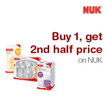 Buy 1, get 2nd half price on NUK