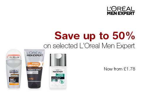 Save up to 50% on L'Oreal Men Expert