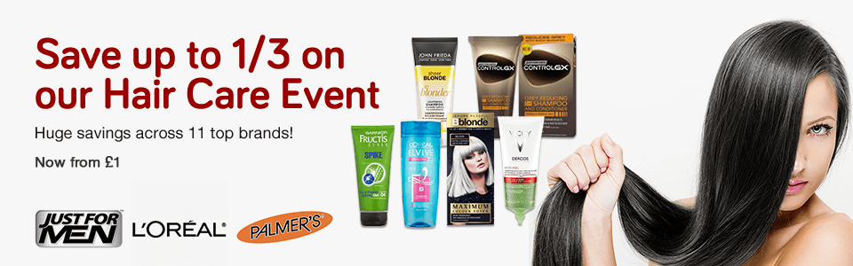 1/3 Off Hair Care Event