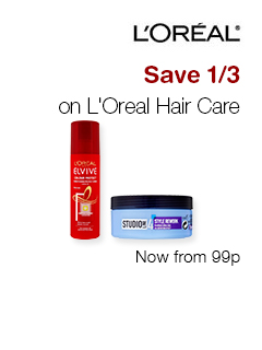 Save 1/3 on L'Oreal Hair Care