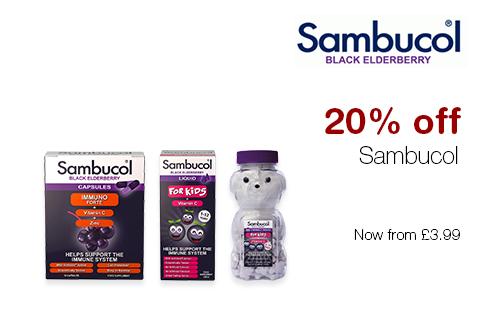20% off Sambucol