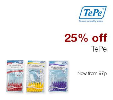 25% off TePe
