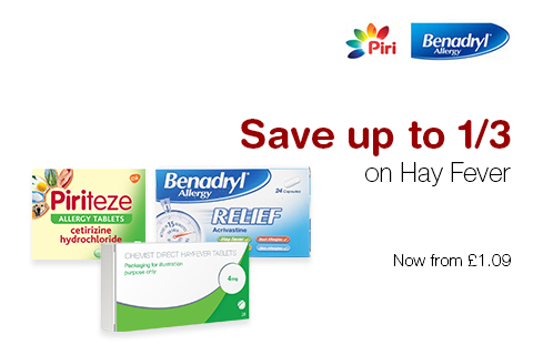 Save up to 1/3 on Hay Fever