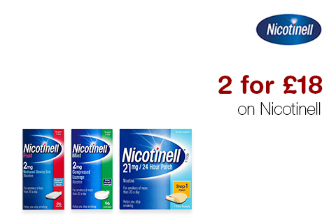 2 for £18 on Nicotinell