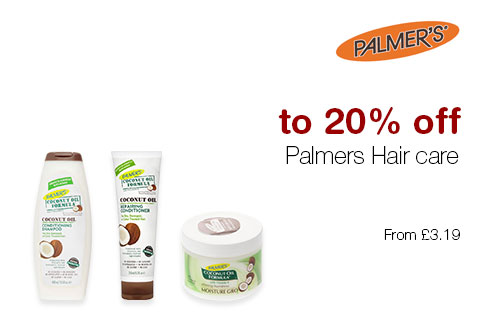 up to 20% off Palmers Hair care