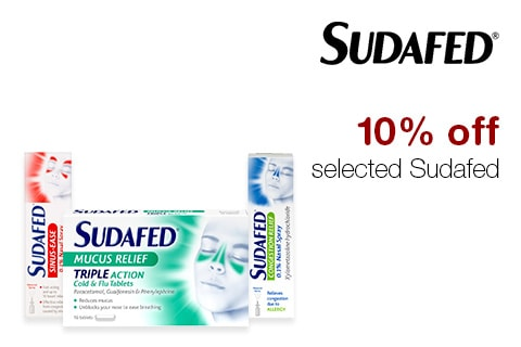 10% off selected Sudafed