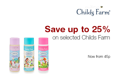 Save up to 25% on selected Childs Farm