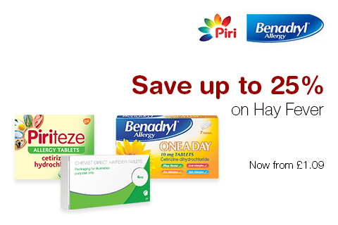 Save up to 25% on Hay Fever