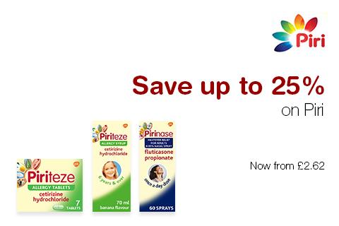 Save up to 25% on Piri