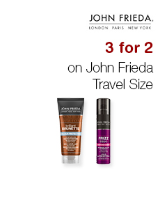 3 for 2 on John Frieda Travel Size