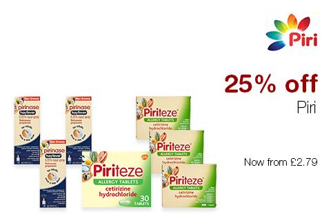 25% off Piri