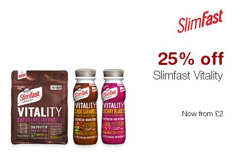 25% off Slimfast Vitality