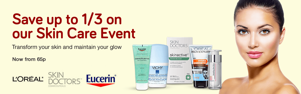 Save 1/3 on Skin Care Event