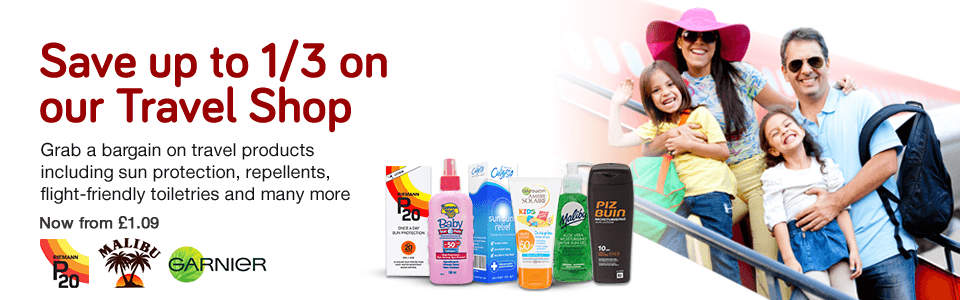 Save 1/3 on Travel Shop