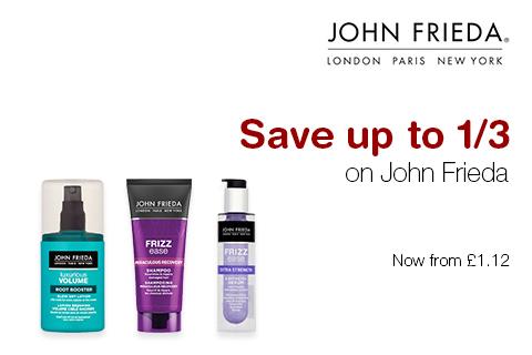 Save up to 1/3 on John Frieda