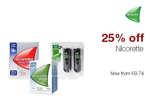 25% off Nicorette