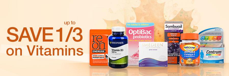 Save 1/3 on Vitamins
