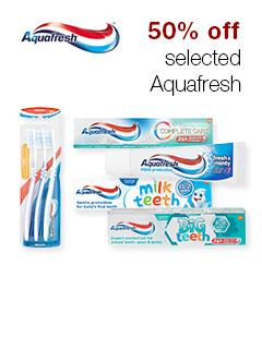 50% off selected Aquafresh