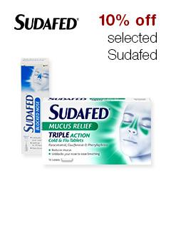 10% off selected Sudafed