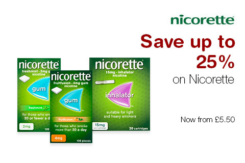 Save up to 25% on Nicorette