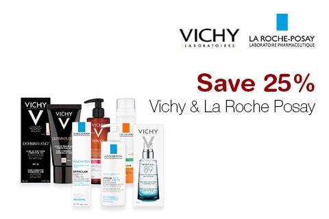 Save 25% Vichy & La Roche Posay
