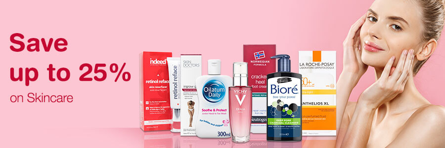 Save up to 25% on Skincare