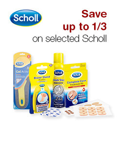 Save up to 1/3 on selected Scholl