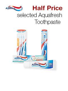 Half Price selected Aquafresh Toothpaste