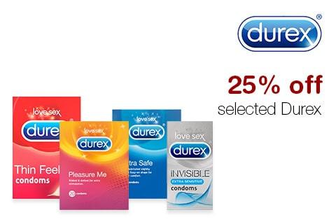 25% off selected Durex