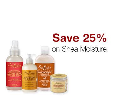 Save 25% on Shea Moisture