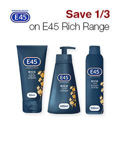 Save 1/3 on E45 Rich Range