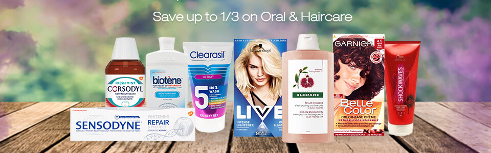Save up to 1/3 on Oral & Haircare