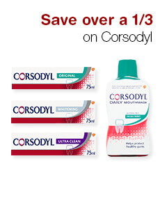 Save over a 1/3 on Corsodyl
