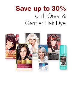 Save up to 30% on L'Oreal & Garnier Hair Dye