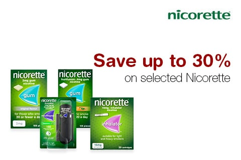 Save up to 30% on selected Nicorette