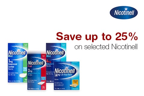 Save up to 25% on selected Nicotinell