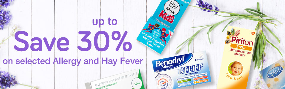 Save up to 30% on Allergy