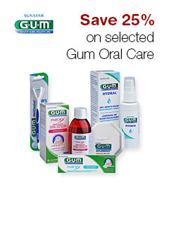 Save 25% on selected Gum Oral Care