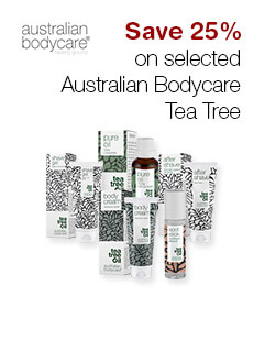 Save 25% on selected Australian Bodycare Tea Tree