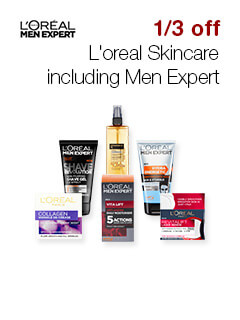 1/3d off L'oreal Skincare including Men Expert