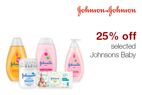 25% off  selected Johnsons Baby