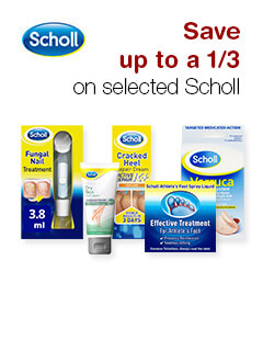 Save up to a 1/3 on selected Scholl